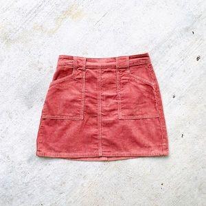 Kendall Kylie Corduroy Skirt Mauve Pink 26